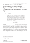 Use of the glucosidase inhibitor 1 4-dideoxy-1 4-imino-D-arabinitol as a probe to investigate hypertrehalosemic hormone-mediated change in carbohydrate and lipid metabolism in the cockroach  Periplaneta americana.