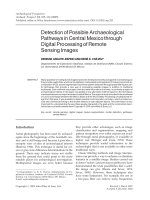 Detection of possible archaeological pathways in central Mexico through digital processing of remote sensing images.