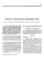 Digital mucinous pseudocysts.