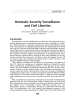Domestic security surveillance and civil liberties.