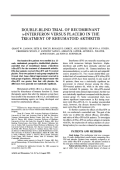 Double-blind trial of recombinant ╨Ю╤Ц-interferon versus placebo in the treatment of rheumatoid arthritis.