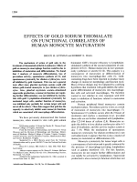 Effects of gold sodium thiomalate on functional correlates of human monocyte maturation.