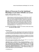 Effects of prococene II on the nutritional physiology of last instar Heliothis zea larvae.