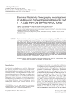 Electrical Resistivity Tomography Investigations of Multilayered Archaeological SettlementsPart II  A Case from Old Smyrna HyUk Turkey.