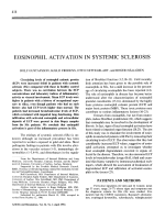 Eosinophil activation in systemic sclerosis.