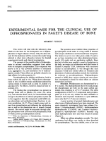 Experimental basis for the clinical use of diphosphonates in paget's disease of bone.