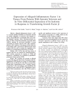 Expression of allograft inflammatory factor 1 in tissues from patients with systemic sclerosis and in vitro differential expression of its isoforms in response to transforming growth factor.