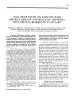 Followup study on patients with reiter's disease and reactive arthritis with special reference to HLA В ЭB27.