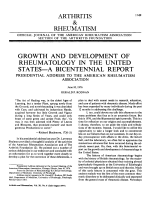 Growth and Development of Rheumatology in the United States В ЭA Bicentennial Report.