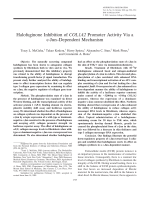 Halofuginone inhibition of COL1A2 promoter activity via a c-Jundependent mechanism.