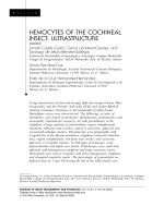 Hemocytes of the cochineal insectultrastructure.