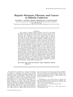 Hepatic Steatosis  Fibrosis  and Cancer in Elderly Cadavers.