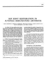 Hip Joint Restoration in Juvenile Rheumatoid Arthritis.