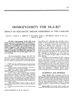 Homozygosity For HLA-B27.