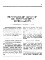 Immunoglobulin deposits in skin in systemic lupus erythematosus.
