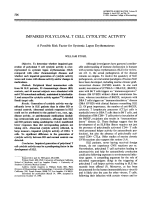 Impaired polyclonal t cell cytolytic activity.