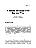 Indexing and retrieval for the Web.