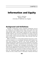 Information and equity.