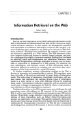 Information retrieval on the web.