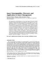 Insect neuropeptidesDiscovery and application in insect management.