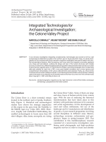 Integrated technologies for archaeological investigation the Celone Valley project.
