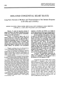 Isolated congenital heart block. long-term outcome of mothers and characterization of the immune response to ss-aro and to ss-bla