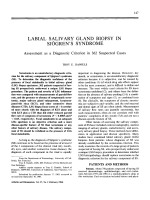 Labial salivary gland biopsy in sjgren's syndrome.