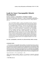 Leads for insect neuropeptide mimetic development.
