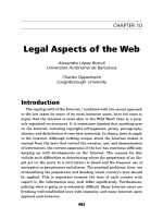Legal aspects of the web.