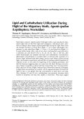 Lipid and carbohydrate utilization during flight of the migratory moth Agrotis ipsilon LepidopteraNoctuidae.