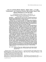 Liver of juvenile atlantic salmon Salmo salar L.A light transmission and scanning electron microscopic study with special reference to the sinusoid