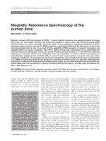 Magnetic resonance spectroscopy of the human brain.