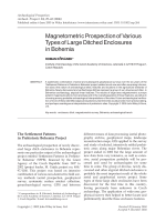 Magnetometric prospection of various types of large ditched enclosures in Bohemia.