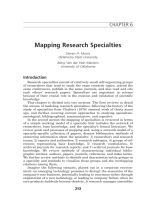 Mapping research specialties.