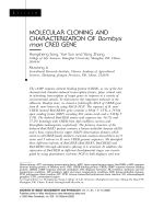Molecular cloning and characterization of Bombyx mori CREB gene.