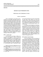 Molecular therapeutics. Methotrexate and its mechanism of action