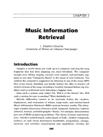 Music information retrieval.