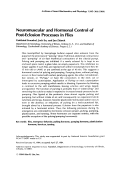 Neuromuscular and hormonal control of post-eclosion processes in flies.