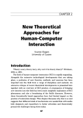 New theoretical approaches for human-computer interaction.