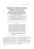 Optimization of Volumetric Computed Tomography for Skeletal Analysis of Model Genetic Organisms.