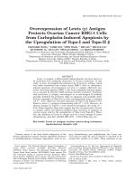 Overexpression of Lewis (y) Antigen Protects Ovarian Cancer RMG-1 Cells from Carboplatin-Induced Apoptosis by the Upregulation of Topo-I and Topo-II ╬▓.