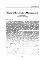 Personal Information Management.