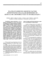 Platelet-derived growth factor potentiates cellular responses of articular chondrocytes to interleukin-1.