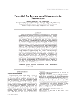 Potential For Intracranial Movements in Pterosaurs.