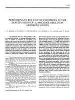 Predominant Role of Neutrophils in the Inactivation of ╨Ю┬▒2-Macroglobulin in Arthritic Joints.