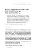Presence and regulation of trehalose in the body of adult Phormia regina.