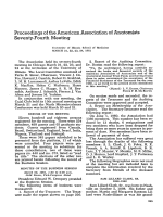 Proceedings of the american association of anatomists seventy-fourth meeting.