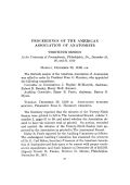 Proceedings of The American Association of Anatomists. Thirtieth session At the University of Pennsylvania  Philadelphia  Pa.  December 29  30  and 31  1913
