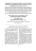 Proceedings of the Annual Meeting of the American Rheumatism Association June 2223 1961 Hotel Roosevelt New York N. Y
