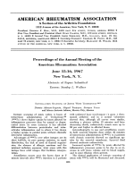 Proceedings of the Annual Meeting of the American Rheumatism Association. June 1516 1967 New York N. Y. Abstracts of Papers Submitted